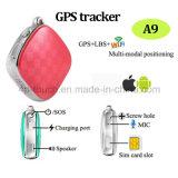 Ruta Histórica de Venta caliente Mini/pequeño rastreador de GPS con ranura para tarjeta SIM A9