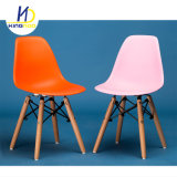 Современные дешевые реплики Eames пластмассовые деревянные опоры детский обеденный стул