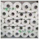 Rollo de película de envoltura de ensilaje de blanco para los fardos redondos