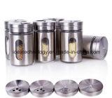 錫の穴のふたが付いている工場直接優れた品質の曇らされたか、または吹きかけられた/Decalsのガラススパイスの瓶
