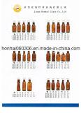 200ml de amberFles DIN 28mm van de Stroop van het Glas