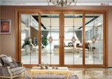 Guichet de glissement en verre de bâti de double en aluminium de jardin d'hiver pour la chambre à coucher