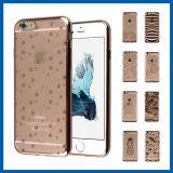 Zachte TPU Glasheldere Electroplate Case voor iPhone 6 Plus