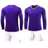 長い袖はサッカーのフットボールのトレーニングのTシャツQuick-Dry連続したSportwearをカスタマイズする