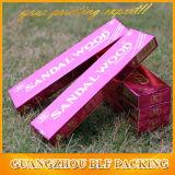 Papel rosado de plata en relieve la caja de incienso (BLF-PBO343)