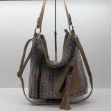 La toile de mode sac fourre-tout Mesdames les sacs à main avec garniture Tassel
