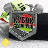 Оптовая торговля хорошее качество пользовательских спорта металлические медальон