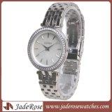De dames kleden Polshorloges, het Klassieke Horloge van de Vrouwen van de Armband van het Kristal Zilveren