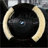 Tampa de roda fantástica da direção do carro do calor do inverno da pele de carneiro