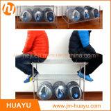 Полка металла Shelving провода шкафа 4 ярусов с покрашенной или Chromed регулируемой стойкой индикации