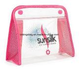 De transparante Kosmetische Zakken van de Gift van de Bevordering PVC/Mesh, de Zakken van de Make-up