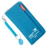 新式の旅行帯出登録者の安全はオルガナイザーのジッパーのパスポートの札入れ袋を文書化する