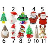 Azionamento 2017 dell'istantaneo di memoria del USB del Babbo Natale del calzino dell'albero di Natale per i regali