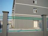 Acier résidentiel simple blanc de jardin clôturant 18-4
