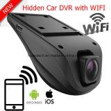 Новые дешевые 2CH скрытые WiFi черный ящик приборной панели автомобиля с 5.0mega Car DVR, двойной HD1080p Car камера ночного видения цифровой видеорегистратор