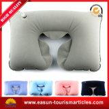 Viajes de alta calidad aire Almohada hinchable de PVC afelpada cuello almohada