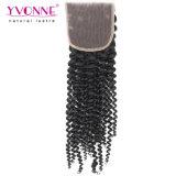 Yvonne-Haar-neue Ankunfts-verworrenes lockiges brasilianisches Haar-Spitze-Schliessen