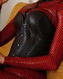 O equipamento de couro dos Jumpsuits da roupa interior do Mais-Tamanho é ternos fêmeas do jogo do Ds