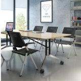 회의실을%s 탁상용 Foldable를 가진 박판으로 만들어진 HPL 회의 테이블