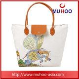 女性のための流行の花の戦闘状況表示板のハンドバッグのキャンバスか綿のショッピング・バッグ