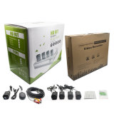Kit della macchina fotografica del CCTV delle a buon mercato 4 macchine fotografiche, 1 kit della macchina fotografica delle macchine fotografiche DVR Ahd di Megapixel