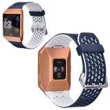 Nuevo diseño de colores doble correa de reloj de silicona Slim Fitbit iónico.