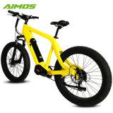 Neumático FAT de 26 pulgadas de 1000W 48V de la unidad MEDIA Bicicleta eléctrica