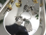 銅の真鍮の鳥かごの形の方法イヤリング
