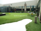 Qの形の人工的な草のパット用グリーン(GFN)