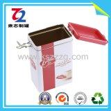 Прямоугольные жестяные коробки чая хранения/коробка олова