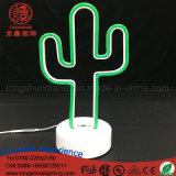 Signe personnalisé conduit Flamingo Cocotier Cloud Cactus Table au néon de lumière pour bureau