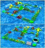 La sosta gonfiabile gigante dell'acqua personalizzata vendita diretta della fabbrica di Paraselene della stella di Guangzhou mette in mostra i giochi, corsa ad ostacoli gonfiabile