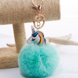 Китай поставщиком Furball мода мех шаровой цепочки ключей мех POM POM