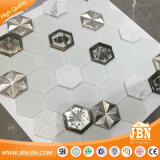 베스트셀러 White Color Hexagon Aluminum 및 Wall (M855357)를 위한 Glass Mosaic