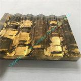 Vetro laminato del tessuto di colore dell'oro del campione