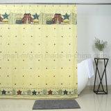 Custom полиэфирная ткань детей шторки для ванной комнате душ шторки