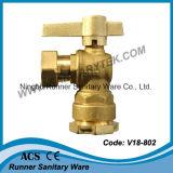 Brass Válvula de bola bloqueable para contador del agua (V18-801)