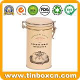 Олово печениь коробки упаковки еды металла традиционное с воздухонепроницаемой крышкой