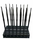 Antena omnidireccional 35W potente 3G 4G Wimax Teléfonomóvil Scrambler, la nueva señal de GPS fijo Jammer/Blocker con 14 de VHF UHF Antena WiFi GPS 4G 315 433