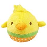 개 장난감 귀여운 동물성 디자인 견면 벨벳 닭
