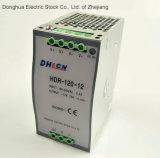 AC Hdr-120-24 au bloc d'alimentation de commutateur de modèle de longeron de C.C DIN 88-132 VAC/176-264VAC à C.C 24V 5A