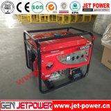 Generador portable de la gasolina del motor de gasolina del conjunto de generador de la gasolina 5kVA