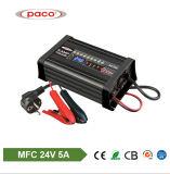 24V de Lader van de Auto van de Lader van de Batterij van de Lader van de Batterij MFC2405 5A 24V 5A