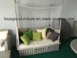 PET Rattan-im Freienmöbel des Aluminiumfeldsun-Betts