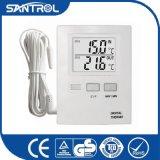 長いセンサーのデジタル温度の温度計が付いている最大最小の大きいパネル