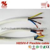 Com isolamento de PVC e cabos flexíveis com bainha de PVC H03VV-F& H05VV-F
