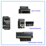 Preiswertes 220V 0.75kw rüstete Laufwerke VFD niedrigen Wechselstrom-Frequenz-Inverter mit Transistoren aus