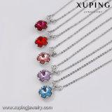 Имитация 43601 4 G ожерелья, один из крупных Crystal цветочными орнаментами, ожерелья, медные украшения