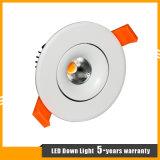 6W LED PFEILER Decken-Punkt-Licht für System-Beleuchtung