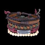 Form-handgemachtes Seil und Leder-Armband-Schmucksachen